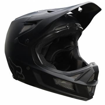 Fox Rampage Comp Mountainbike Fullface Helm | schwarz matt | 26361-255 Seitenansicht