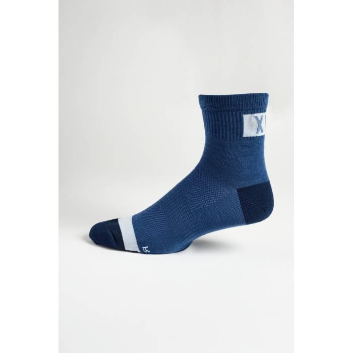 "FOX MTB Socken Flexair Merino | 4"" lang | dunkelblau | 27424-034"