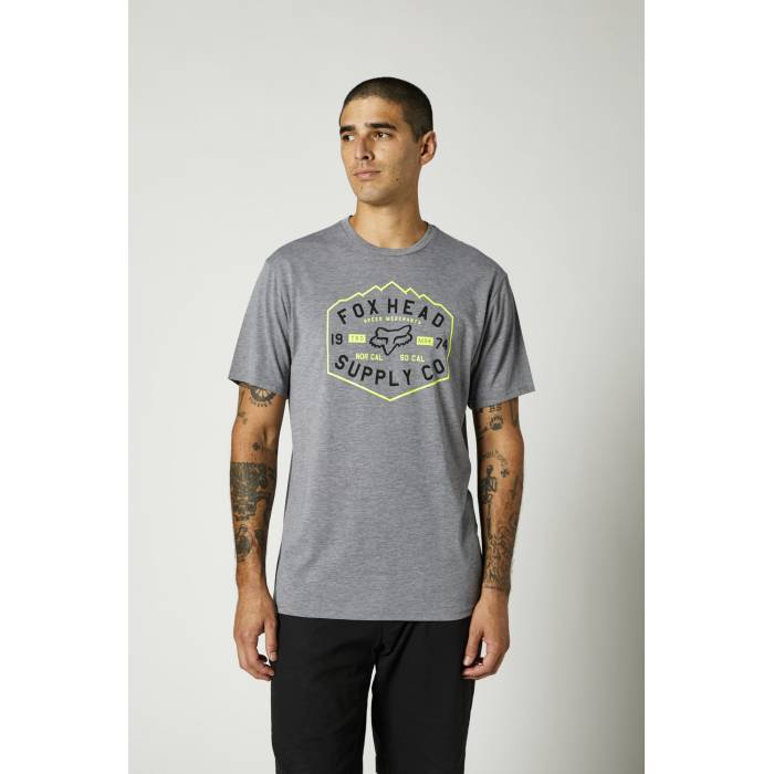 FOX Tech T-Shirt Backbone | grau | 26974-185