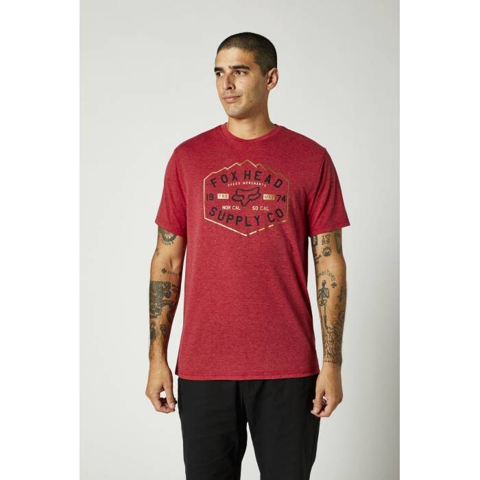 FOX Tech T-Shirt Backbone | rot | 26974-555