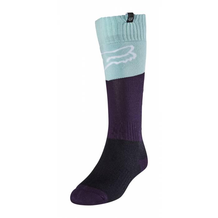 FOX Damen MX Socken Revn | hellblau schwarz | 25903-246