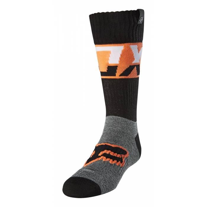 FOX Kinder MX Socken Afterburn | schwarz orange | 25901-001