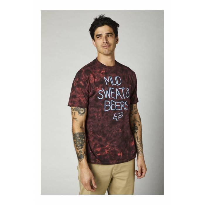 FOX Premium T-Shirt Down N`Dirty | dunkelrot schwarz | 26981-050