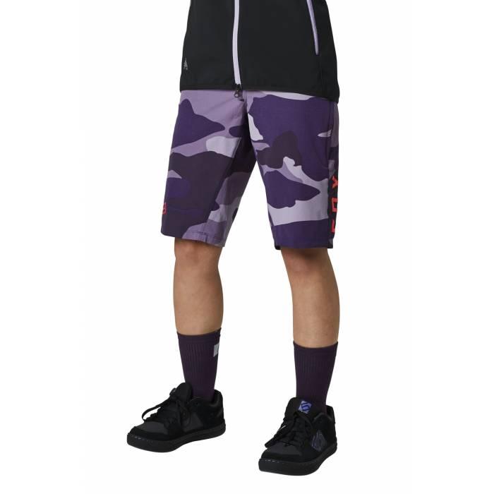 FOX MTB Damen Hose Ranger | kurz | violett camo | 27531-367