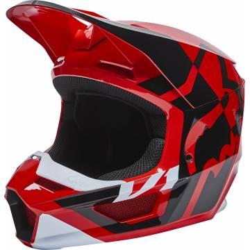 FOX V1 Motocross Helm Lux | rot | 28001-110