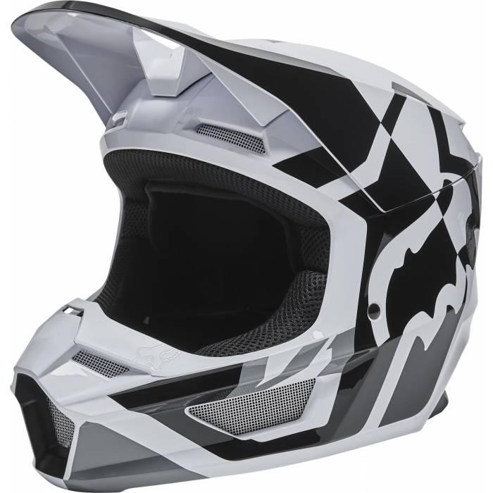 FOX V1 Motocross Helm Lux | schwarz weiß | 28001-018