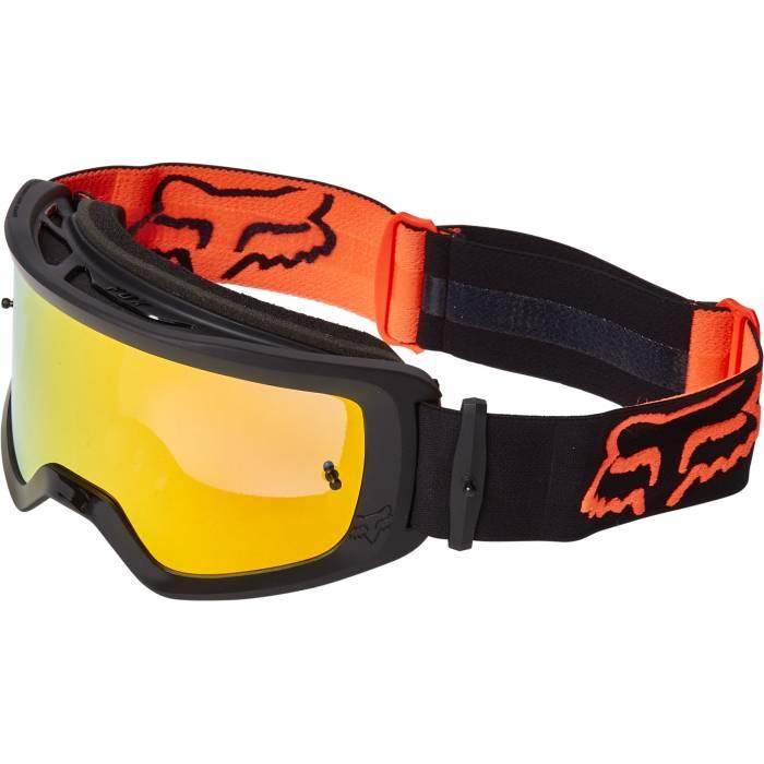 FOX MTB/MX Brille Main Stray | schwarz orange | 25836-002-OS Black Orange