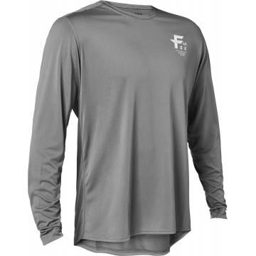 FOX MTB Jersey Ranger Big F | langarm | dunkelgrau | 28470-300