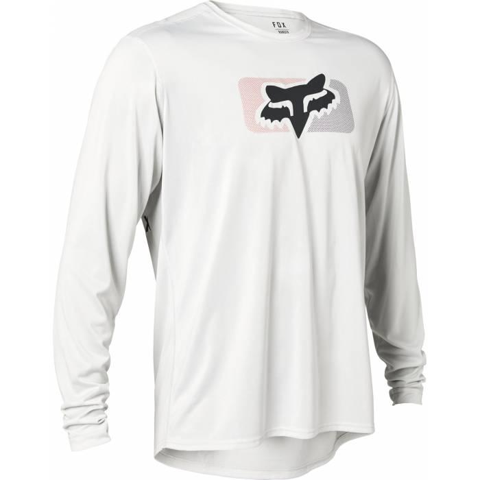 FOX MTB Jersey Ranger Switch | langarm | hellgrau | 28476-097