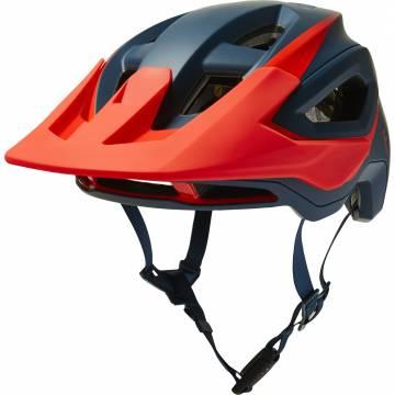 FOX Speedframe Pro MTB Helm | dunkelblau orange | 27505-203