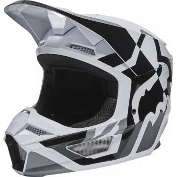 FOX V1 Kinder Motocross Helm Lux | schwarz weiß | 28356-018 White Black