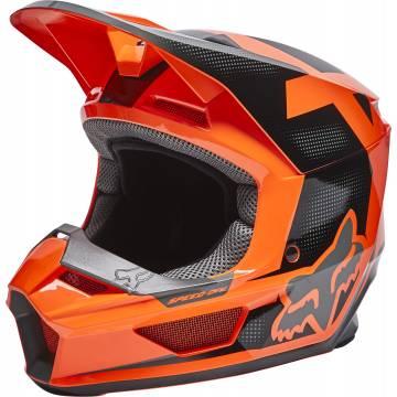 FOX V1 Kinder Motocross Helm Dier | orange schwarz | 28360-824 Flo Orange