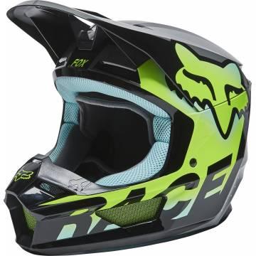 FOX V1 Kinder Motocross Helm Trice | grau neon gelb | 26782-176