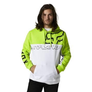 FOX Hoodie Skew | neon gelb weiß | 28302-130 Pullover Fleece