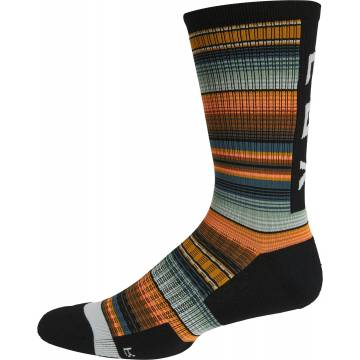 "FOX MTB Socken Ranger Cushion | 8"" lang | grün orange | green orange"