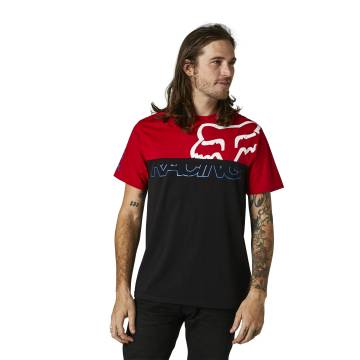 FOX Crew T-Shirt Skew   schwarz rot   28336-122 Crew SS Tee