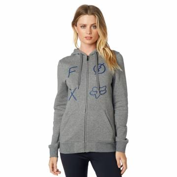 Fox Staged Damen Zipper Hoody, grau