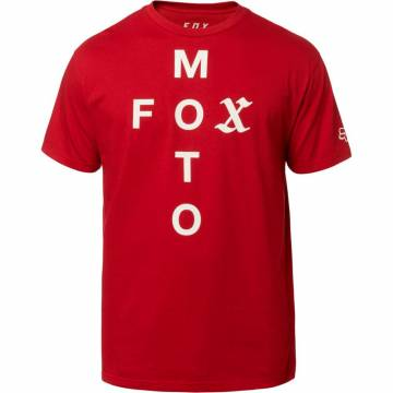 FOX T-Shirt Herren Moto Cross | rot | 23148-465